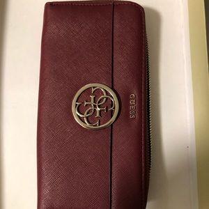 Burgundy Guess wallet